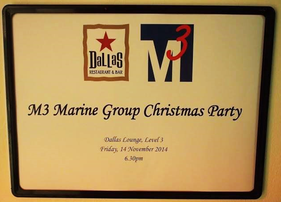M3's (early!) Christmas Party 2014
